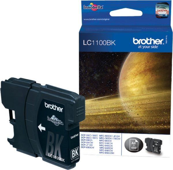 Brother Tinte schwarz LC1100BK