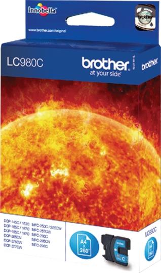 Brother Tinte cyan LC980C