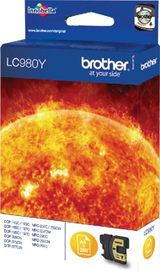 Brother Tinte gelb LC980Y