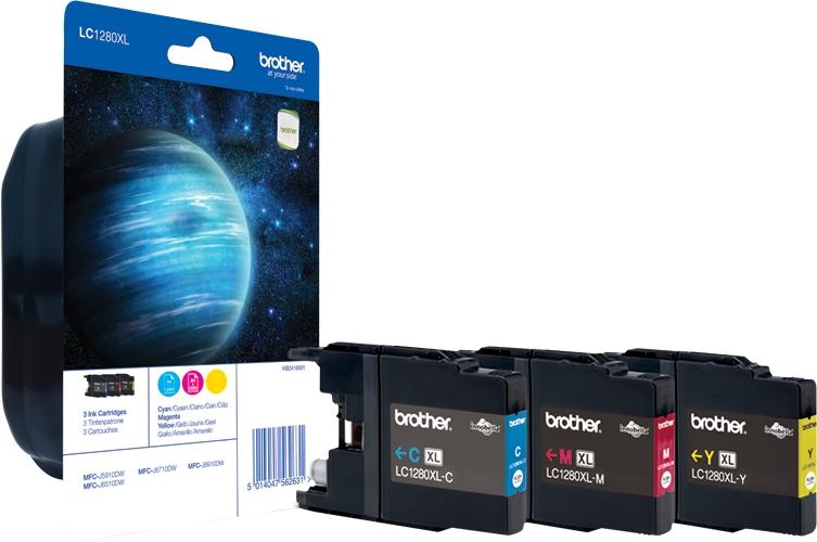 Brother LC 1280XL Rainbow Pack LC1280XLRBWBPDR