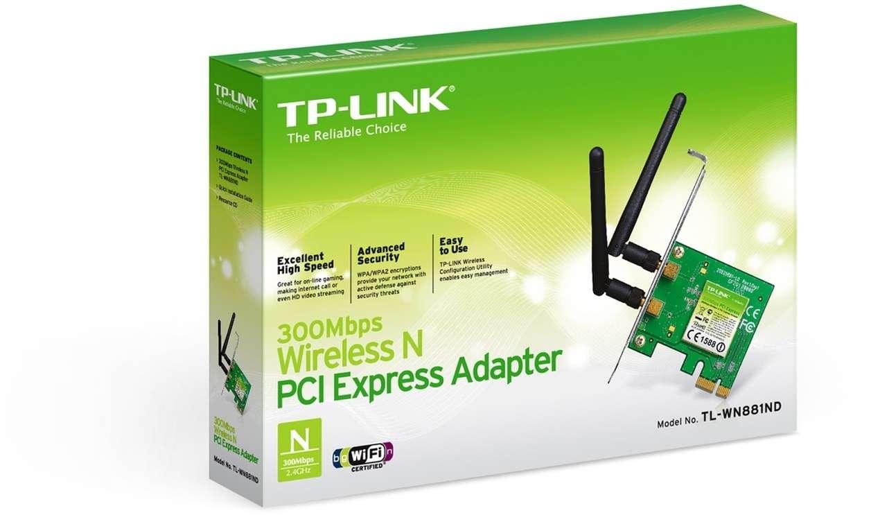 TP-Link Wireless PCI-E Adapter 300M TL-WN881ND