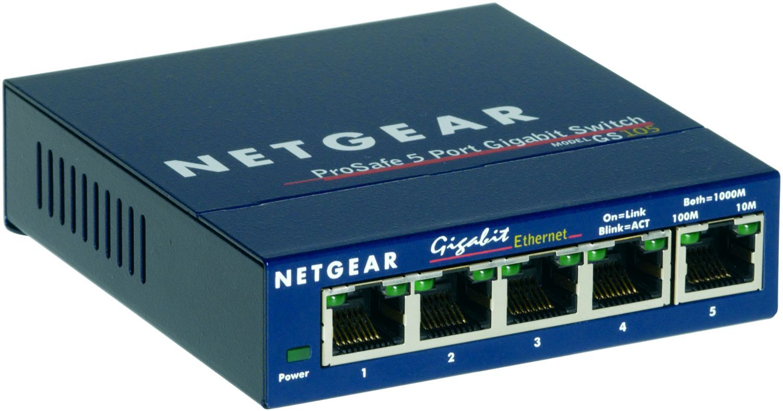 NETGEAR Switch Pro Safe 5-port 10/100/1000 GS105GE