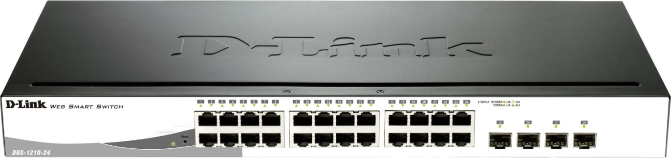 D-Link Switch Web Smart 24-port 10/100/1000 DGS-1210-24