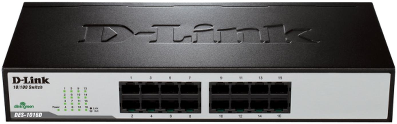 D-Link Switch 16-port 10/100 DES-1016D/E
