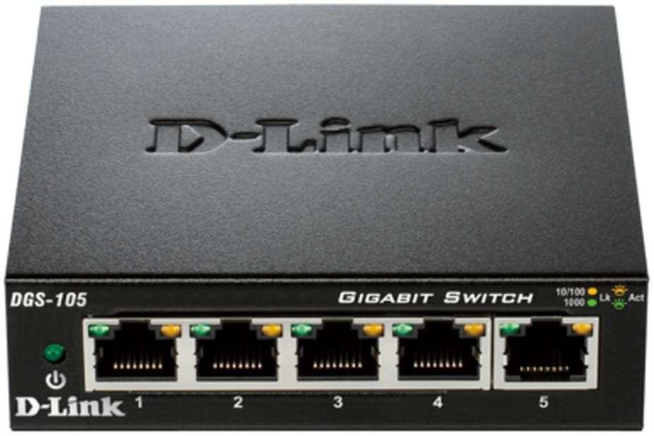D-Link Switch 5-port 10/100/1000 DGS-105/E
