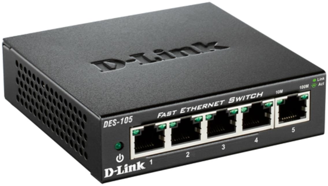 D-Link Switch 5-port 10/100 DES-105/E