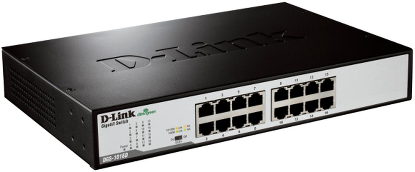 D-Link Switch Desktop 16-port 10/100/1000 DGS-1016D/E