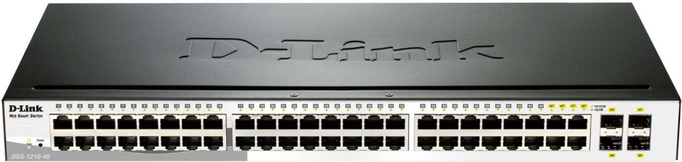D-Link Switch Web Smart 48-port 10/100/1000 DGS-1210-48