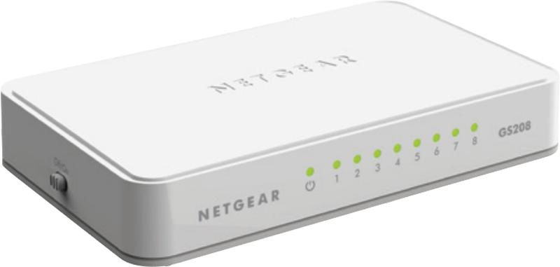 NETGEAR Switch Desktop 8-port 10/100/1000 GS208-100PES