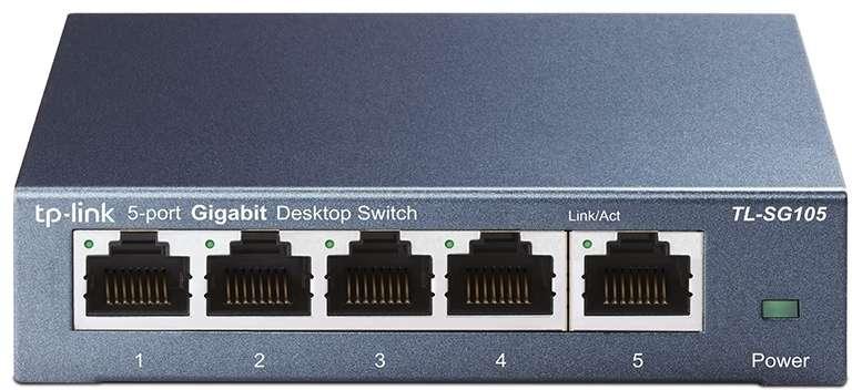 TP-Link Switcher Desktop 5-port 10/100M/1000M TL-SG105