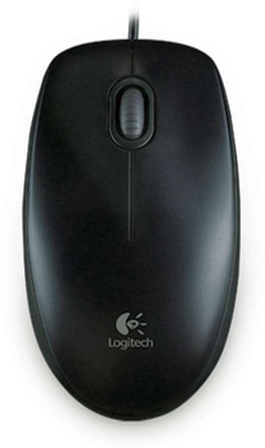 Mouse Logitech B100 Optical USB Mouse black