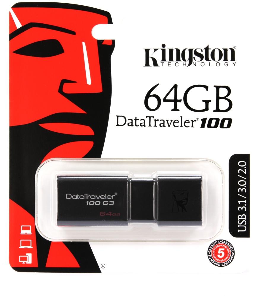 USB Stick 64GB Kingston DT100G3 USB 3.0 DT100G3/64G