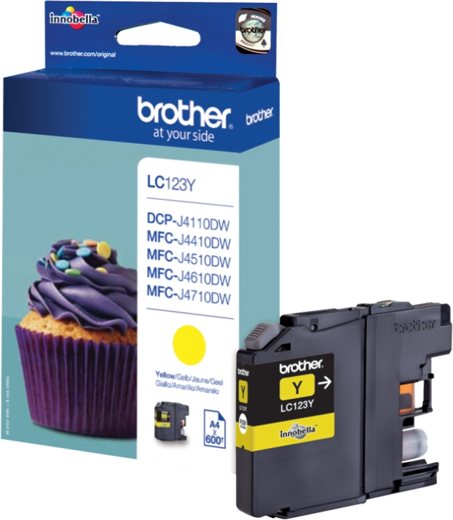 Brother Tinte yellow LC123Y