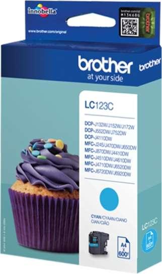 Brother Tinte cyan LC123C