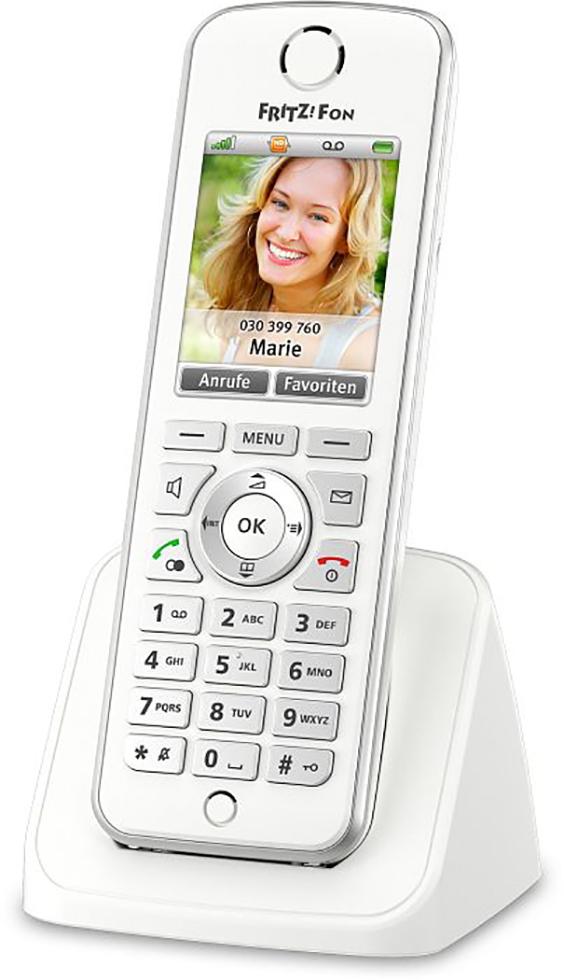 AVM Fritz! Fon C4 - schnurloses VoIP Telefon,Internetradio und Netzwerk-Audioplayer weiß