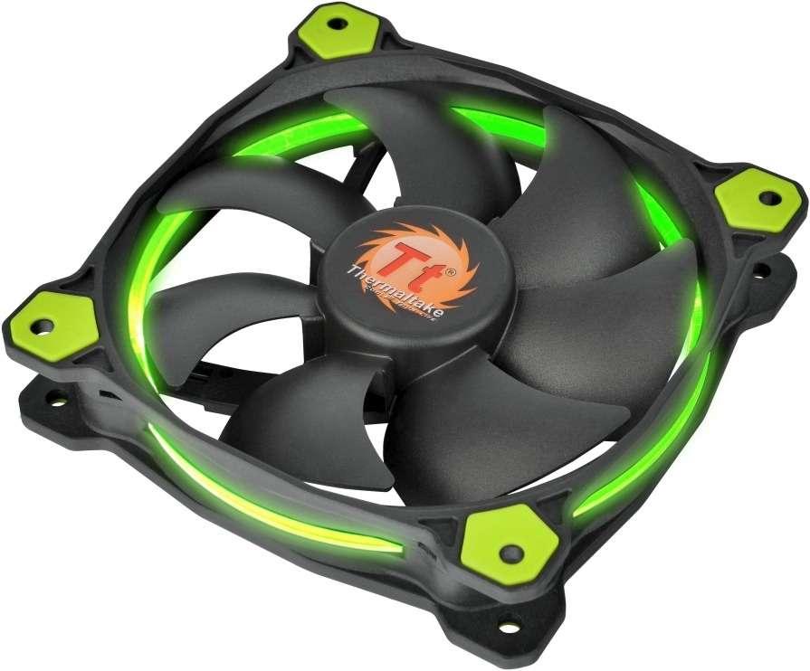 PC- Gehäuselüfter Thermaltake Riing 14 LED - Green