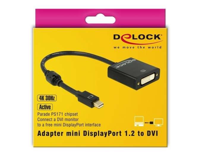 Adapter Delock mini-Displayport (M) to DVI-I (W)
