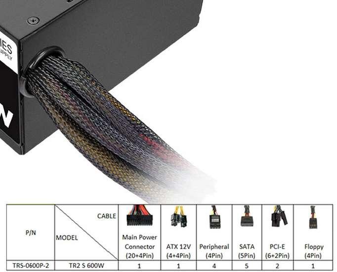 PC- Netzteil Thermaltake TR2 S 600W