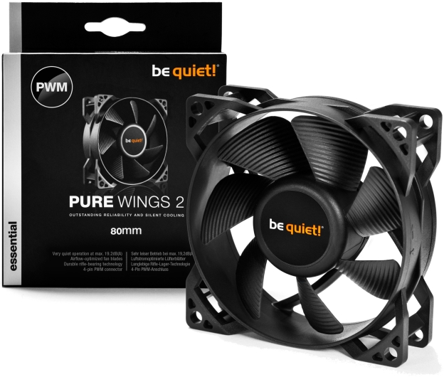 PC- Gehäuselüfter Be Quiet Pure Wings 2 80mm PWM