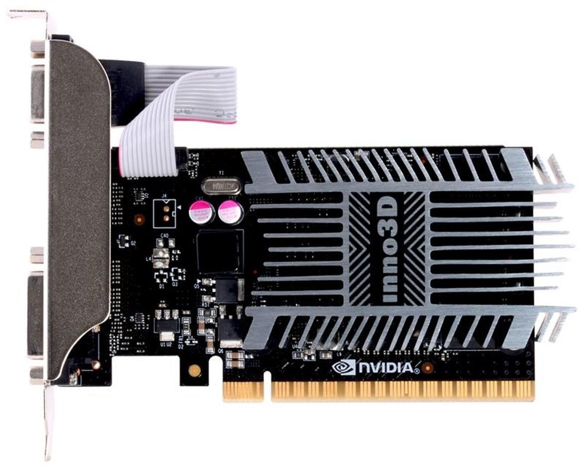 VGA Inno3D GeF. GT710, 1GB SDDR3 64bit, HDMI, DVI, PCI-E mit CUDA, passiv