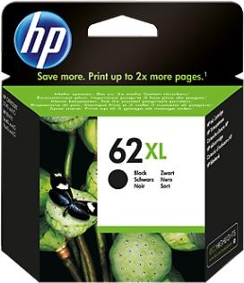 HP Tinte schwarz 62XL C2P05AE