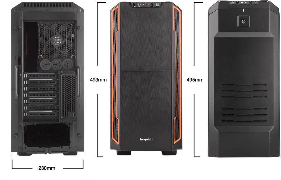 PC- Gehäuse BeQuiet Silent Base 600 - orange