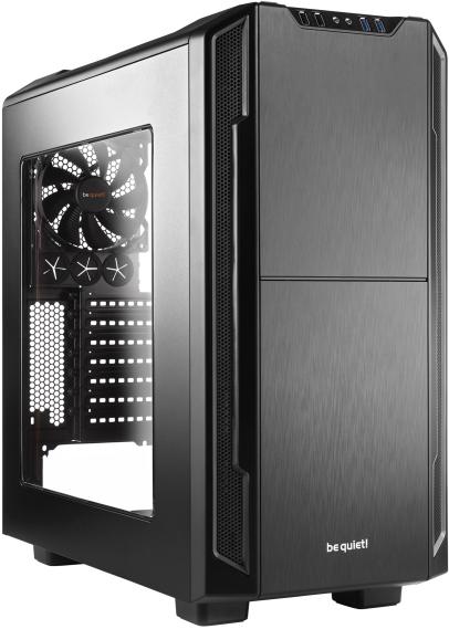 PC- Gehäuse BeQuiet Silent Base 600 mit Fenster - schwarz