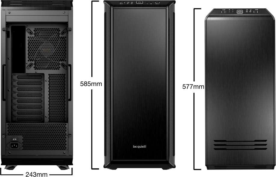 PC- Gehäuse BeQuiet Dark Base 900 - schwarz