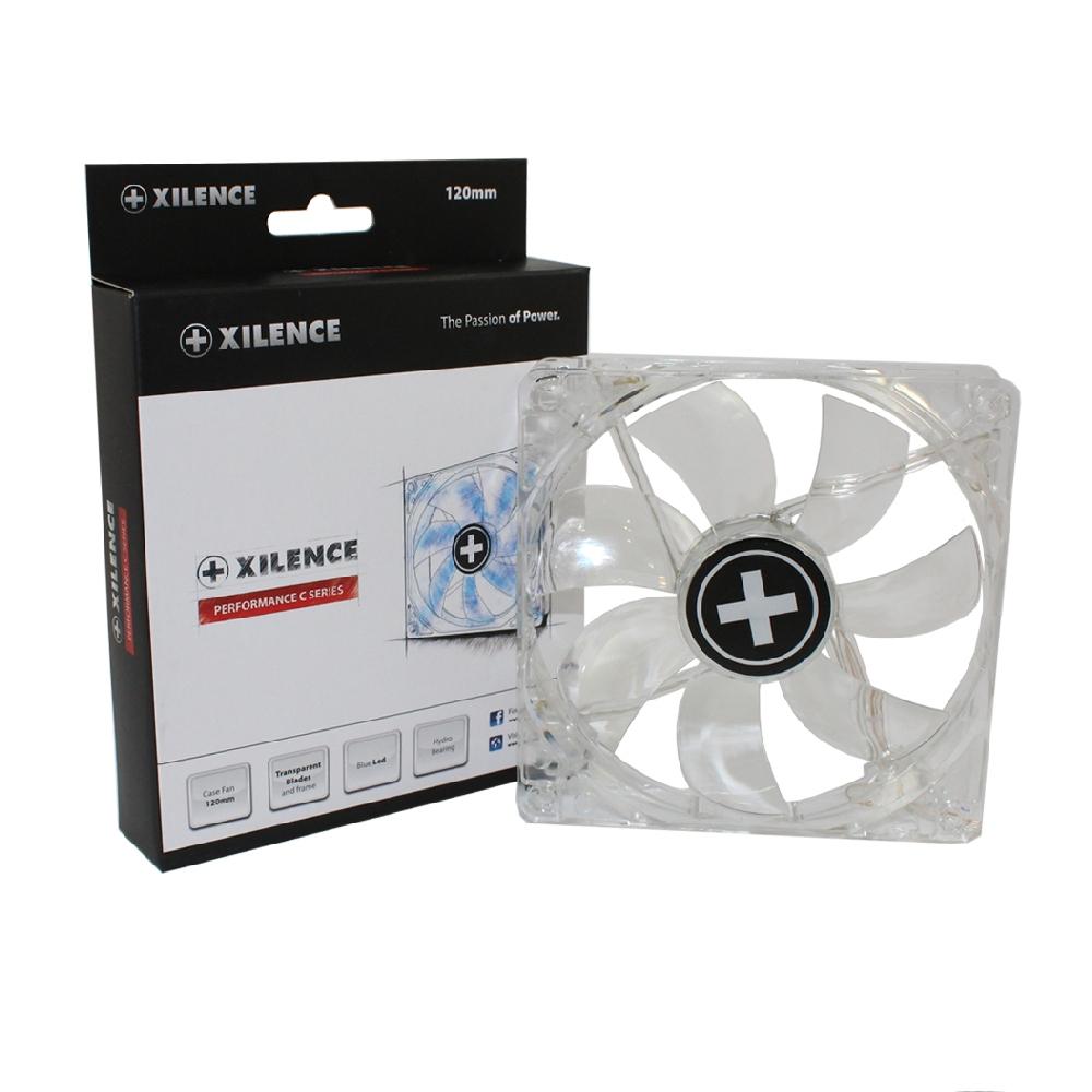 PC- Gehäuselüfter XILENCE Performance C case fan 120 mm, transparent blue LED, XPF120.TBL