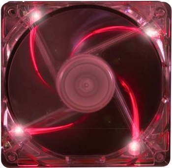 PC- Gehäuselüfter XILENCE Performance C case fan 120 mm, transparent red LED, XPF120.TR