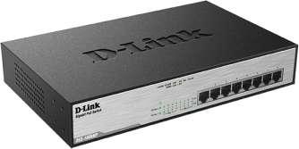 D-Link Switch Gigabit 8-port 10/100/1000 DGS-1008MP