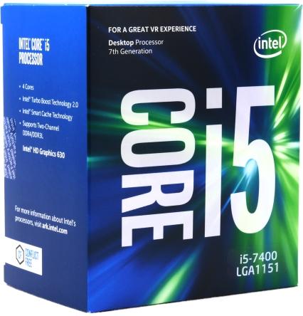 Intel Box Core i5 Processor i5-7400 3,00Ghz 6M Kaby Lake