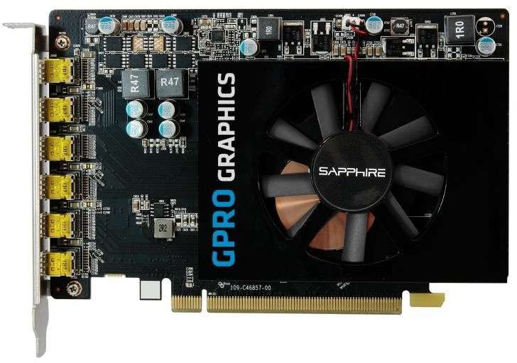 VGA SAP GPRO 6200 4G GDDR5 PCI-E EYEFINITY 6 EDITION BROWN BOX HEXA miniDP