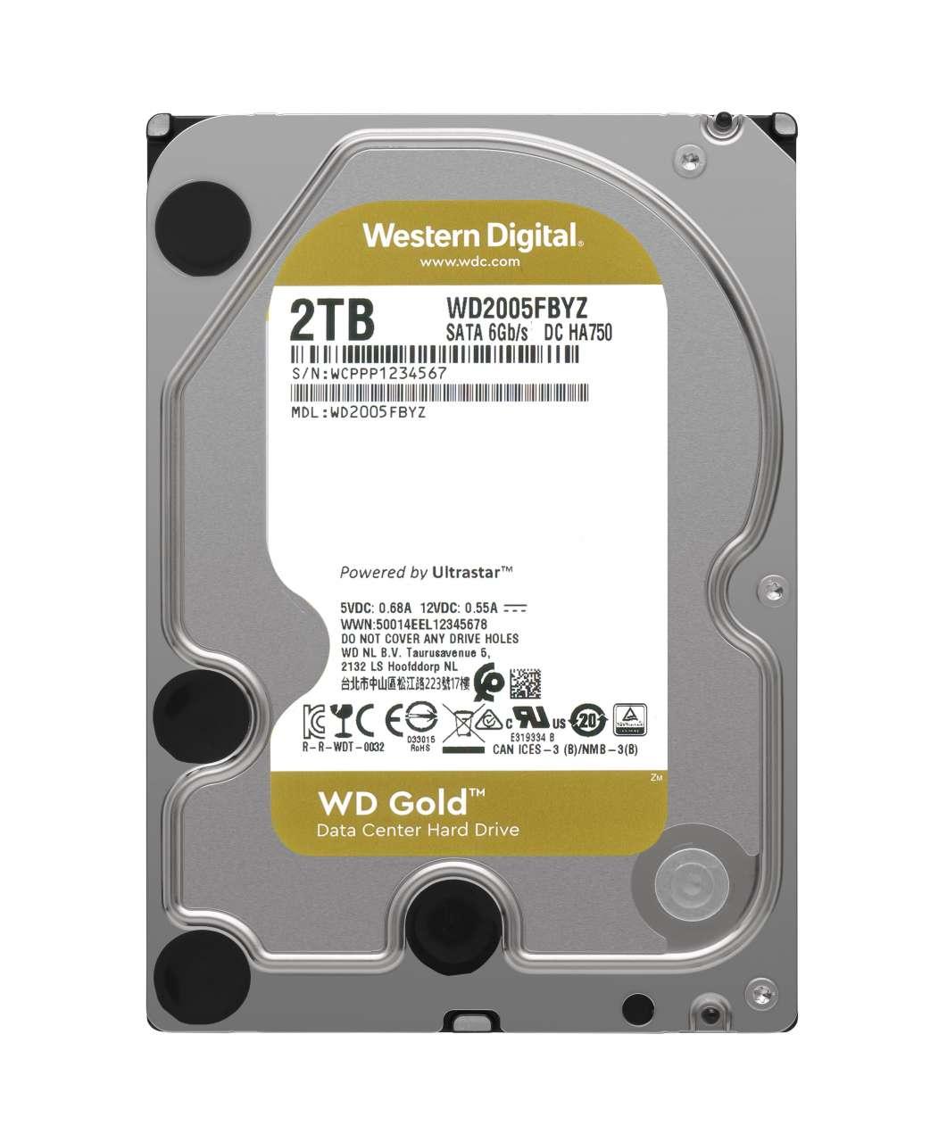 HDD WD Gold WD2005FBYZ 2TB/600/72 Sata III 128MB (D)