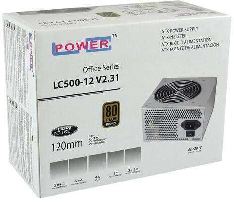 PC- Netzteil LC-Power Office Series LC500-12 V2.31 400W