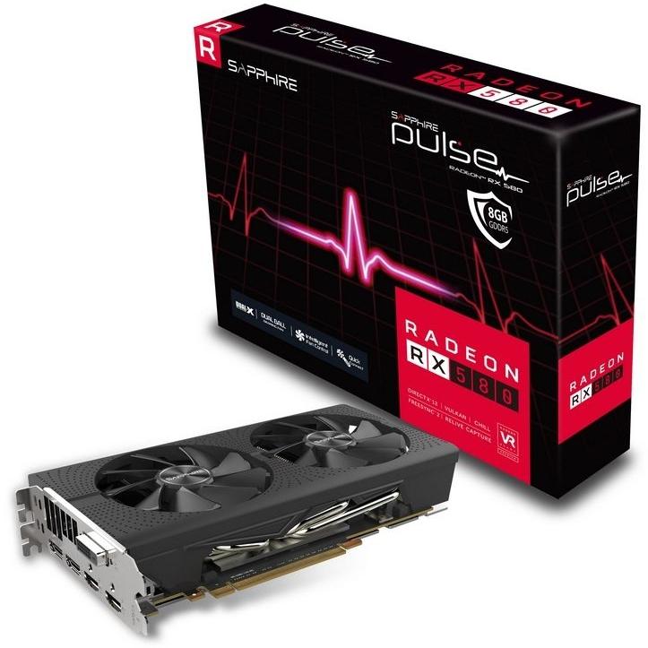 VGA SAP PULSE RADEON RX 580 8G GDDR5 DUAL HDMI / DVI-D / DUAL DP OC W/BP (UEFI)