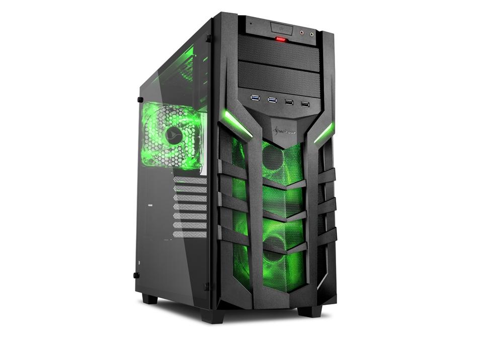 PC- Gehäuse Sharkoon DG7000-G Grün