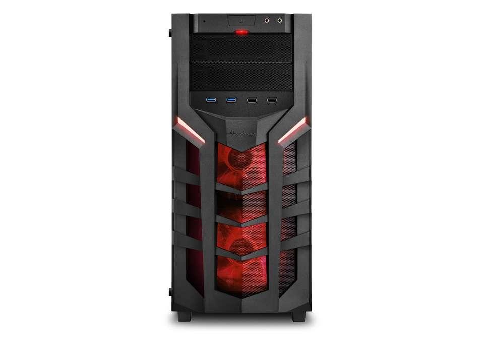 PC- Gehäuse Sharkoon DG7000-G Rot