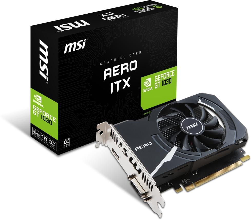 VGA MSI GeForce® GT 1030 2GB AERO ITX 2G OC (FAN/ITX)