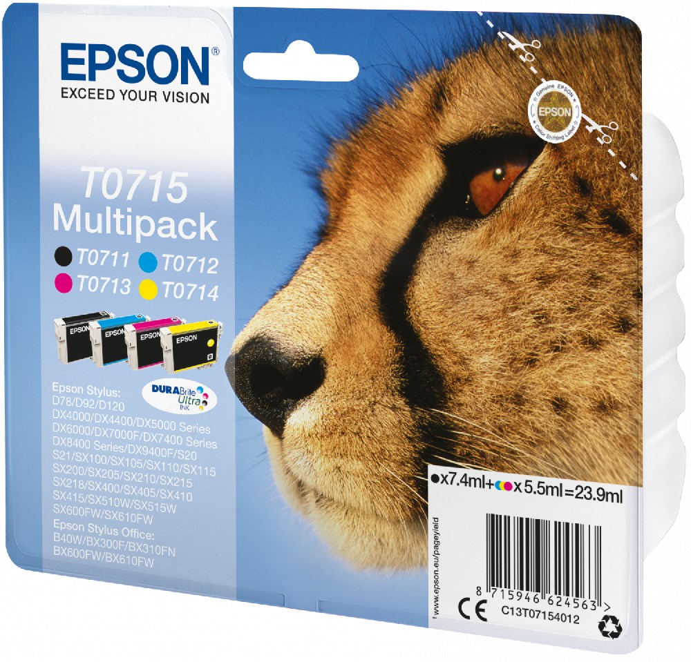 Epson Tinte Gepard DURABrite Multipack D78 C13T07154012
