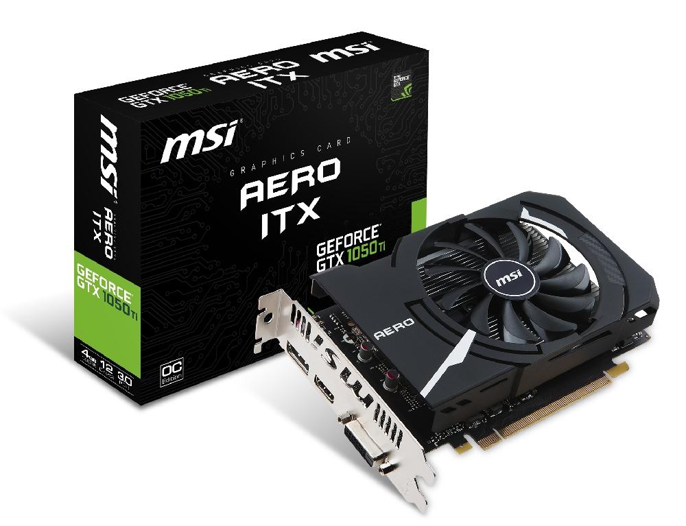 VGA MSI GeForce® GTX 1050 Ti 4GB Aero ITX OCV1