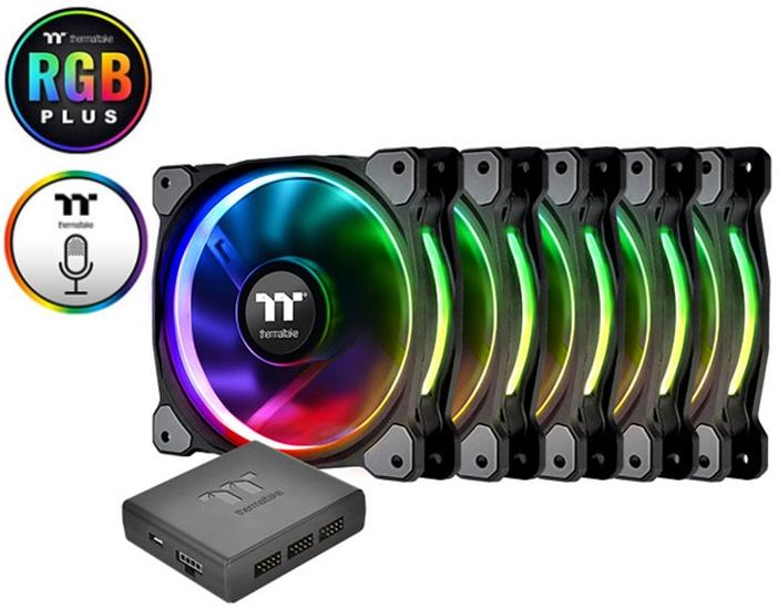 PC- Gehäuselüfter Thermaltake Riing 14 PLUS - RGB 5er Pack