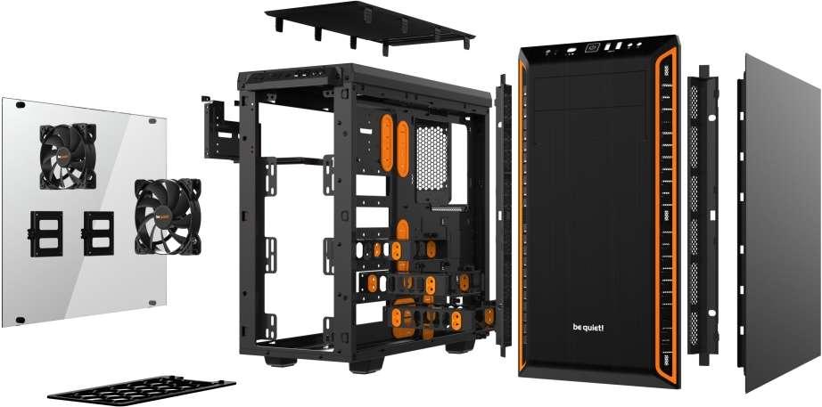 PC- Gehäuse BeQuiet Pure Base 600 Window - orange