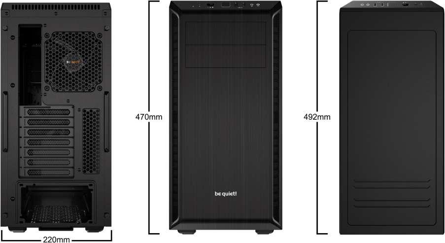 PC- Gehäuse BeQuiet Pure Base 600 - schwarz