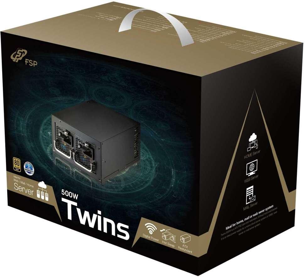 PC- Netzteil Fortron Twins 500 80+ Gold