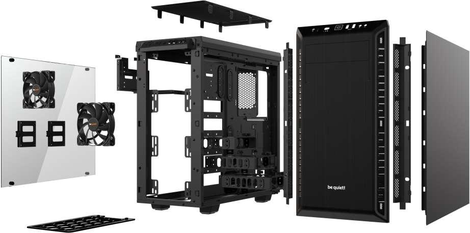 PC- Gehäuse BeQuiet Pure Base 600 Windows - schwarz