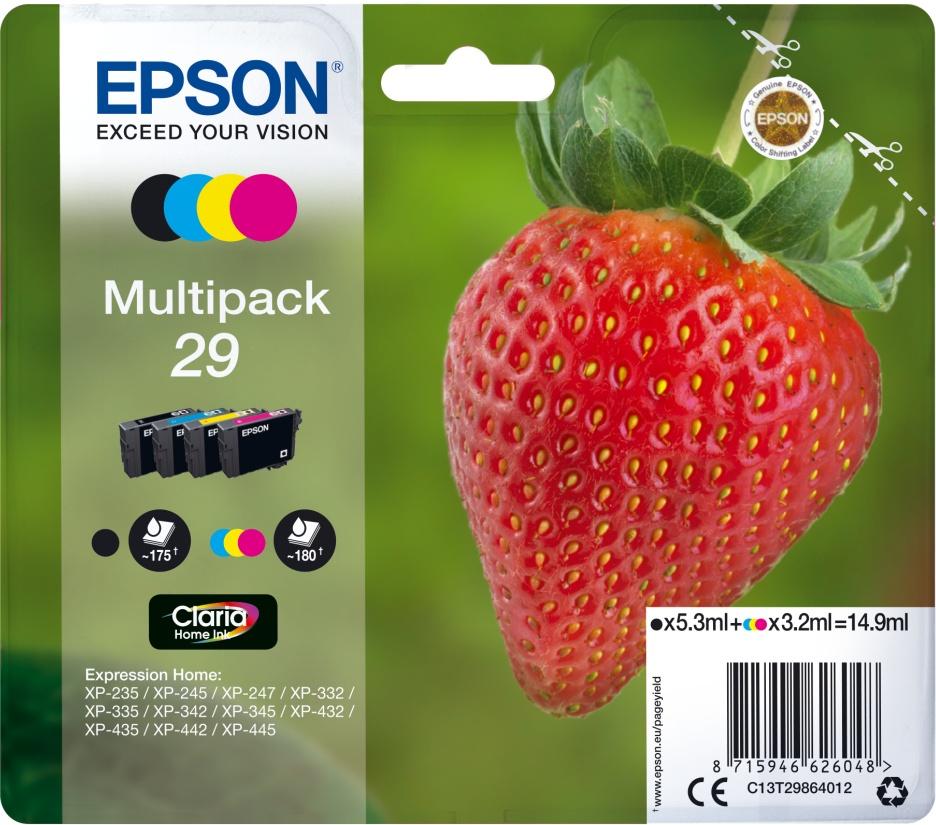 Epson Tinte Erdbeere Multipack 4er-Pack C13T29864012