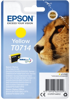 Epson Tinte Gepard gelb C13T07144012