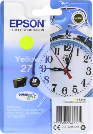Epson Tinte Wecker gelb C13T27044012