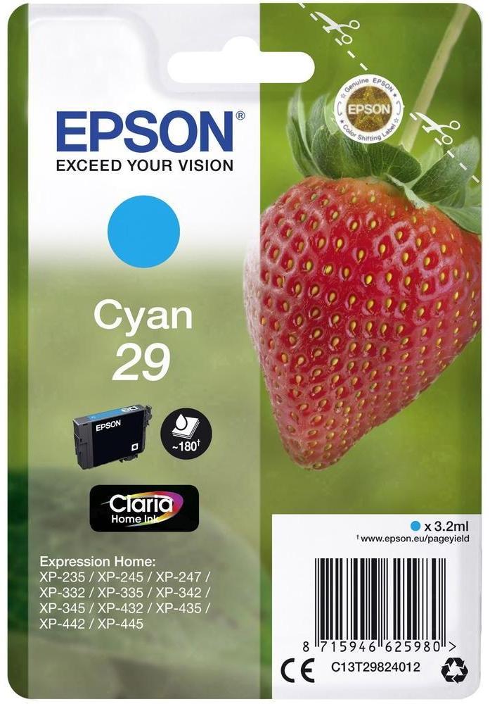Epson Tinte Erdbeere cyan C13T29824012